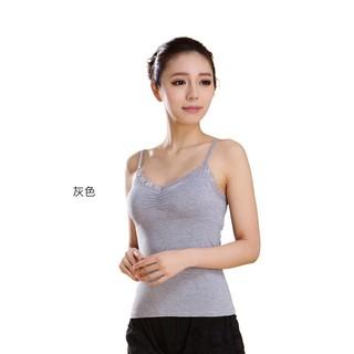 韓國蕾絲Bra可調整背心(灰色)