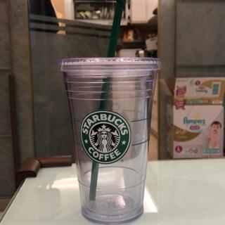 星巴克塑膠隨行杯 全新