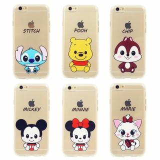 【共6款】IPHONE7手機殼空壓殼【代購】I7PLUS保護套迪士尼米奇米妮維尼史迪奇松鼠奇奇瑪麗貓