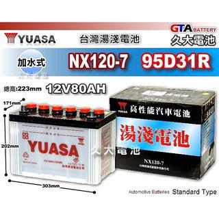 ✚久大電池❚ YUASA 湯淺 NX120-7 加水式 汽車電瓶 福滿多 NISSAN VANETTE (柴油)