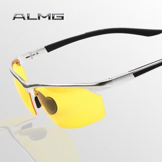 偏光太陽鏡 夜間司機駕車專用眼鏡 新款防強光鋁鎂8529夜視鏡