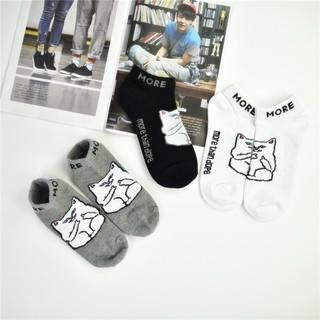 中指貓 襪子 短襪