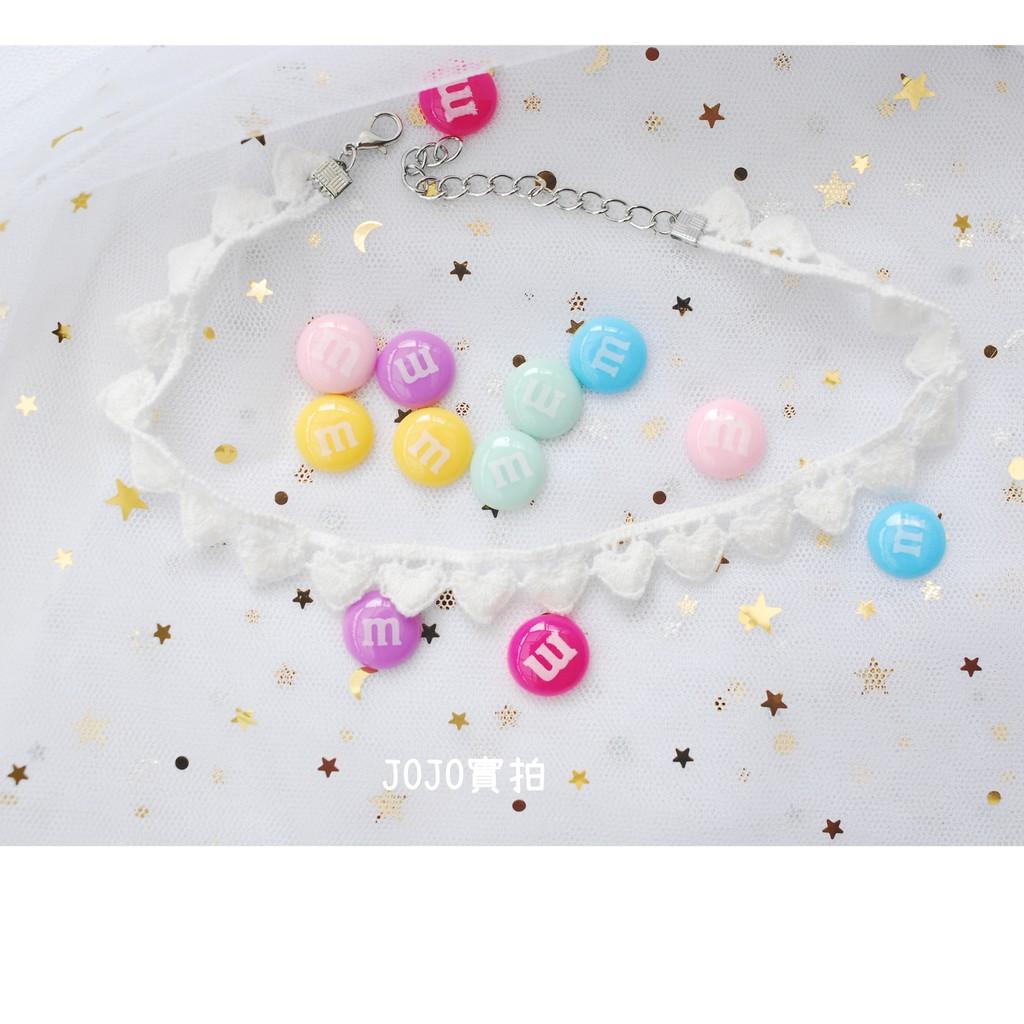 【現貨】M&M巧克力豆🍫 可愛拍照道具 DIY飾品耳環手機殼配件材料 假M&M