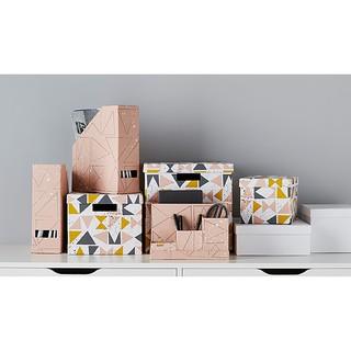 [代購]IKEA TJENA 附蓋收納盒-幾何圖案