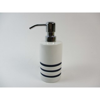 (現貨) 陶瓷 白色瓶身藍色條紋  沐浴乳罐 / 洗手乳罐 / 洗髮精罐