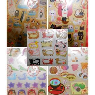 現貨手帳 貼紙 5款 企鵝北極熊、貓咪、可愛動物、和風小物、貓頭鷹 綠繡眼 台灣製