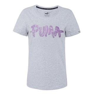 PUMA  基本系列塗鴉短袖T恤-灰 839006-04
