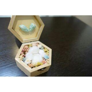乾燥花戒指盒 乾燥花戒盒 求婚戒盒 情人節 婚禮 乾燥花花禮 乾燥花盒子