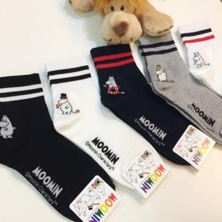 嚕嚕米中筒襪 韓襪 短襪 線條 嚕嚕米 襪子 可兒 嚕嚕米爸爸 嚕嚕米媽媽 運動風 休閒襪