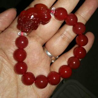 紅瑪瑙貔貅手珠