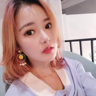 A&A韓國微笑珍珠耳環