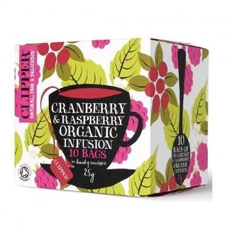 ※12 月 ※即享萌茶英國CLIPPER 有機蔓越莓覆盆子水果茶10 茶包盒有機認証水果茶
