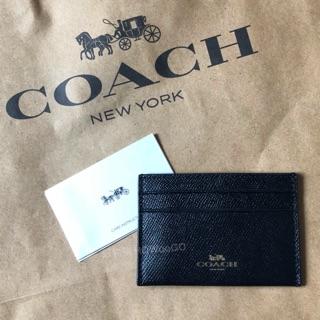 Coach 黑色卡片夾