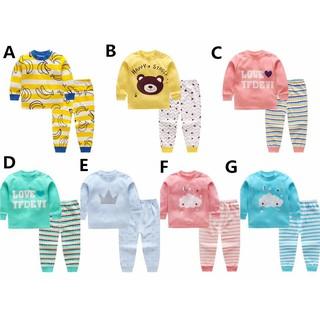 兒童純棉嬰兒卡通內衣寶寶家居服內衣睡衣