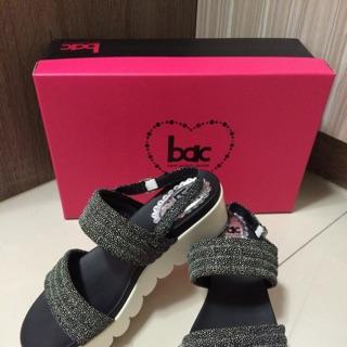 BAC (CUMAR副牌)後底 涼鞋 黑色39號(24.5)