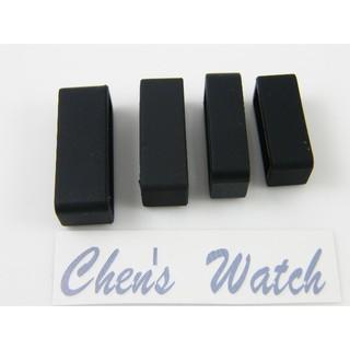 【錶帶家】黑色矽膠錶帶圈錶帶扣環錶帶環固定圈14mm16mm18mm20mm22mm24mm26mm28mm30mm扣環