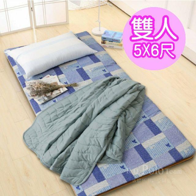 三折床墊-學生外宿必備 大青竹芯混編軟式【三折式冬夏兩用床墊】 單人3尺 雙人床