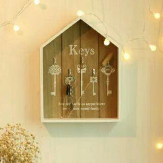 北歐風田園鄉村風原木實木鑰匙盒 鑰匙櫃 鑰匙收納盒