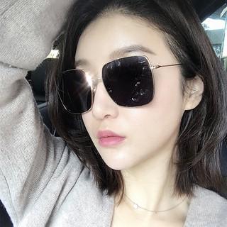 vintage 百搭太陽眼鏡墨鏡平光鏡周揚青款方形金屬眼鏡框復古多邊形平光鏡文藝大框瘦臉眼