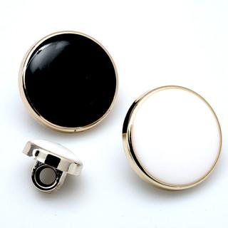 ef08 賣場滿199 發貨 可 西裝紐扣男黑色圓形塑料鈕扣褲子女衣服扣子西服襯衫風衣大衣