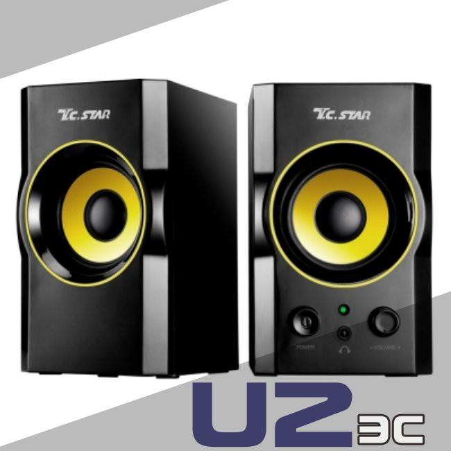 T.C.STAR TCS2423 TCS-2423 USB 供電 兩件式 多媒體 小喇叭 『嘉義U23C開發票』