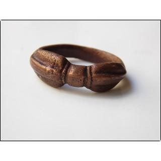 西藏手工老銅金剛杵戒