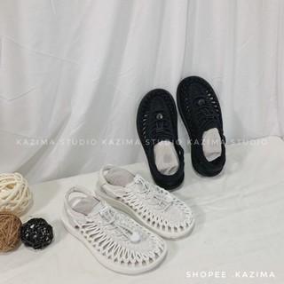 Kazima KEEN UNEEK 涼鞋 編織 編織涼鞋 編織鞋 拖鞋 涼拖鞋 涼拖 全黑 黑 黑色 白 白色 全白73