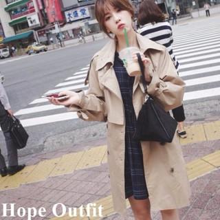 韓國代購 明星款雙排釦風衣外套 翻領綁帶風衣外套 韓國風衣外套 正韓風衣外套 好看風衣外套 大牌風衣外套