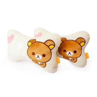貓貓代購 San-x Rilakkuma懶懶熊 輕鬆熊 熊哥 熊妹 小雞 汽車 頭枕 頸枕 護頸枕 卡通靠墊 椅墊