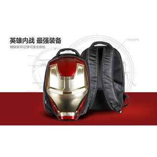 櫻桃貓鋼鐵俠3D立體雙肩背包書包大容量頭盔造型可發光