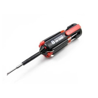 【BA-108】八合一螺絲起子組+手電筒 7種螺絲刀及6燈LED一體化設計 家庭備用 腳踏車野營隨身攜帶