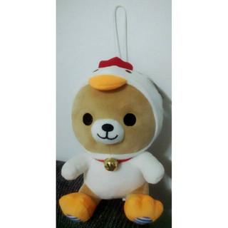 可愛小熊 十二生肖造型-雞 絨毛吊飾 玩偶娃娃