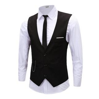 男士正式修身背心商務夾克