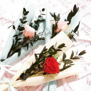 韓式單朵不凋玫瑰花束
