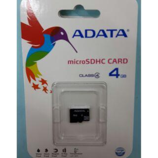 ADATA 4G 記憶卡威岡4GB microSD 神腦終身