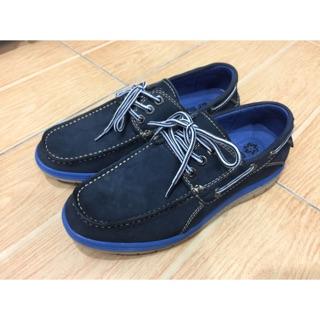 BONJO25 流行配色帆船鞋 藍 只穿過一次  鞋子尺寸25cm(實際尺寸是26cm)