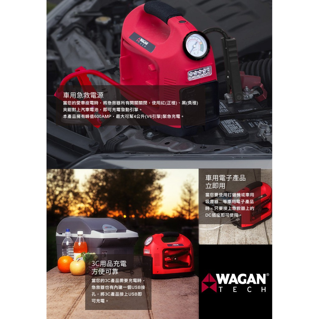 美國 WAGAN  多功能汽車急救器 (7550)