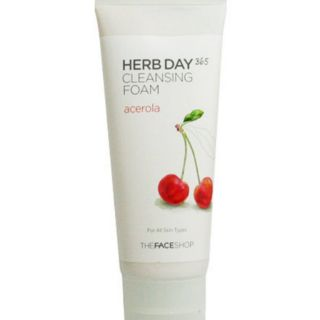 The face shop 現貨 HERB DAY 365 Cleansing Foam acerola洗面乳-櫻桃