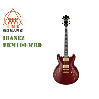 【IBANEZ旗艦店@高雄名人樂器】2019 全新日本製 IBANEZ EKM100-WRD SPOT 電吉他