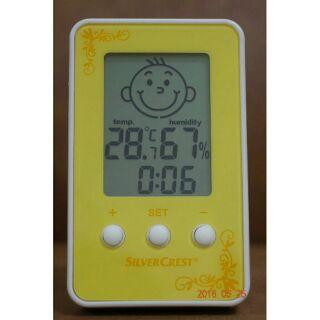 (年假正常出貨)小巧可愛表情質感旅行桌上電子溫濕度計時鐘