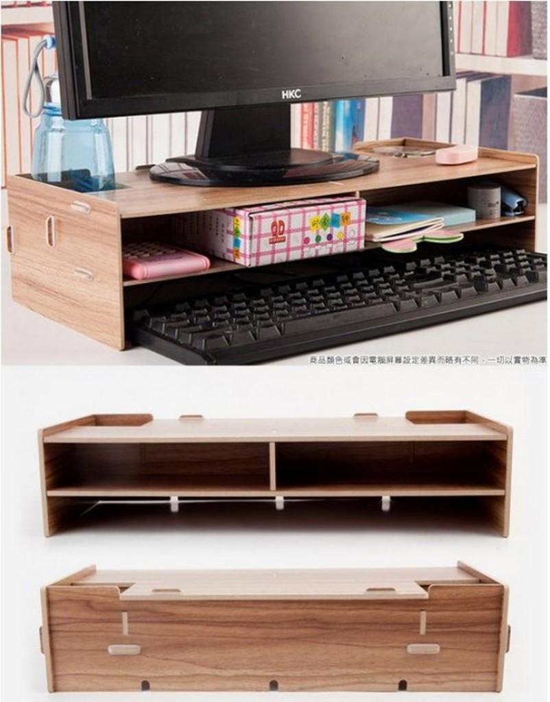 只能宅配~DIY 桌面電腦架~電腦螢幕增高收納架 桌上收納盒 顯示器增高架 電腦底座支架