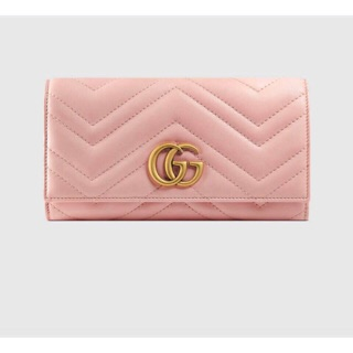 Gucci GG Marmont 掀蓋式長夾