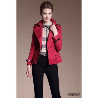 Burberry 巴寶莉 戰馬 女士 短款 秋季風衣  衛衣 修身 歐美大牌風格  衣服 女裝