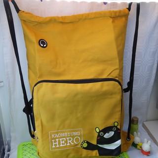 旅行包背袋特價129元 可折疊 收納袋 束口袋 後背包 附耳機孔 高雄熊hero 前收納暗袋設計  側背包  全新品