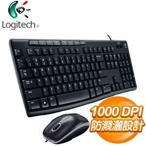 Logitech 羅技 MK200 USB鍵盤滑鼠組 有線鍵盤滑鼠組