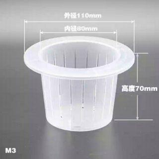 [DIY材料] 室內半水耕籃 [規格:3吋盆] 免澆水室內小盆栽.水仙球根水耕籃[不含玻璃杯]