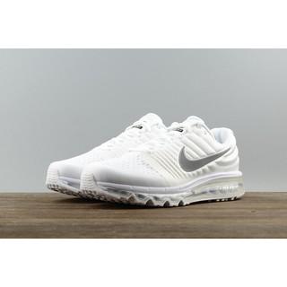 NIKE網面透氣氣墊跑步鞋918091-992男鞋白色