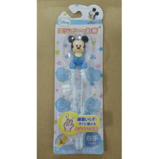 [日本阿卡將帶回]現貨 EDISON'S迪士尼幼兒學習筷 米奇款 右手專用