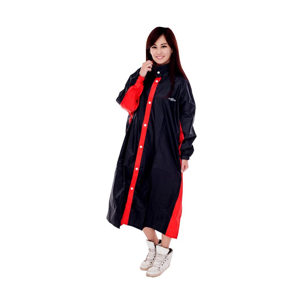 M2R M5 雨衣- 連身式 前開式 透氣 一件式 網狀內裡 雨衣 - 黑/紅 鐵灰/銀