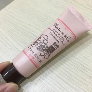 [九成新]Nature&Co.天然果油護手霜-甜醇蜜桃 30ml